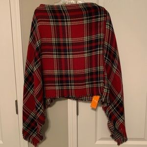 Plaid scarf style P.A. chi